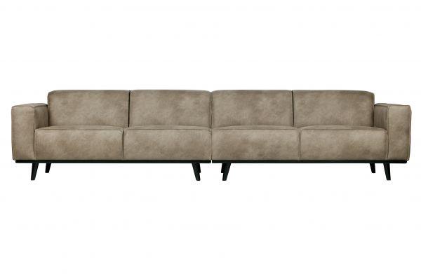 XXL 4-Sitzer Sofa Statement Bezug Microfaser grau