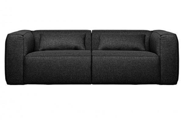 Sofa 3-Sitzer Bean Stoff dunkelgrau