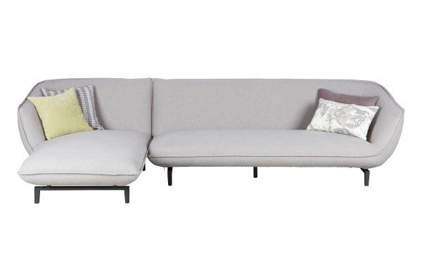 3-Sitzer Sofa Bow Bezug Stogg grau