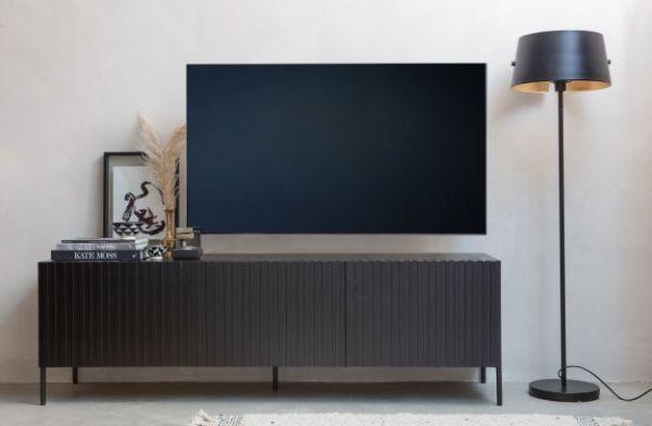 TV- Lowboard ravure Eiche schwarz FSC®