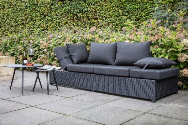 Outdoor Loungebank Roman schwarz
