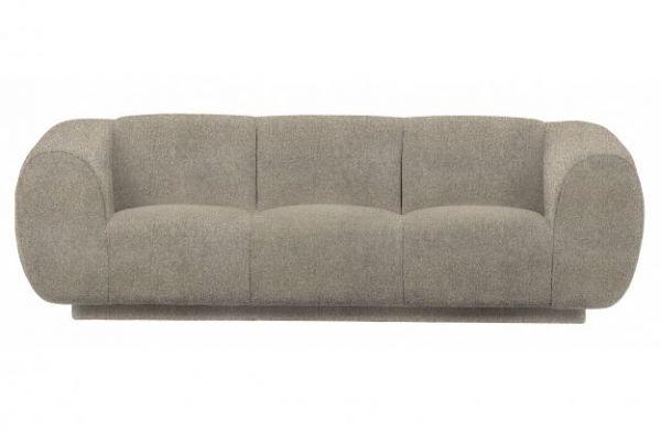 3-Sitzer Sofa Fluffy Bezug Stoff natural
