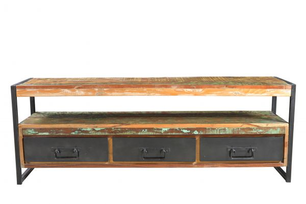 TV-Lowboard Bali mit Schubkästen Holz Vintage