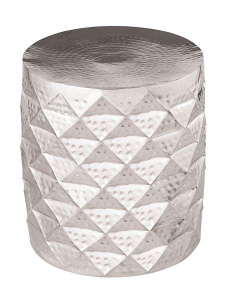 Beistelltisch Marakesch Aluminium silber