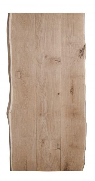 Tischplatte Eiche mit V-Fuge aus 3 Lamellen