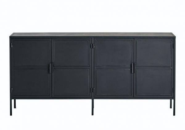 Sideboard Loft 4 Türen Metall schwarz