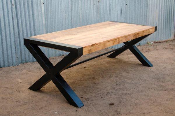 Esstisch Nagu Platte Mangoholz Massig 220 cm Länge