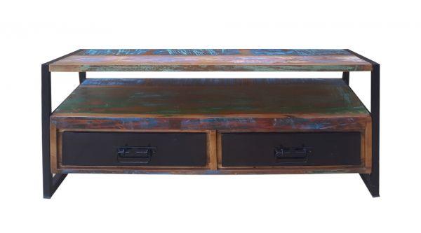 TV-Lowboard Bali Holz Vintage bunt