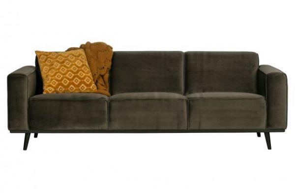 3-Sitzer Sofa Statement Bezug Velvet grün