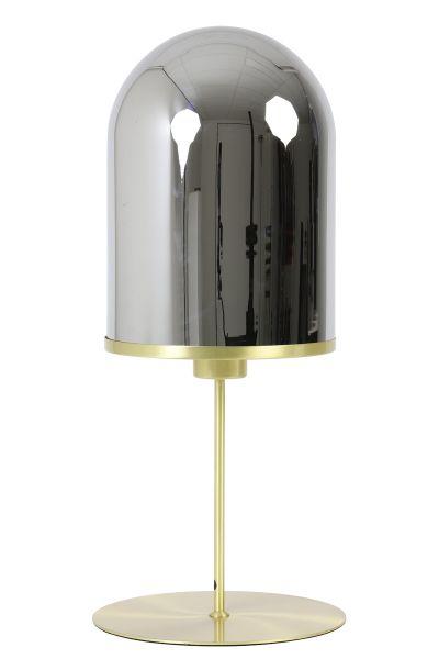 Tischlampe Maverick gold Glas Smoke
