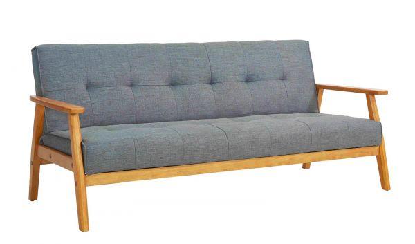 Schlafsofa dunkelgrau ausklappbar skandinavisch Design