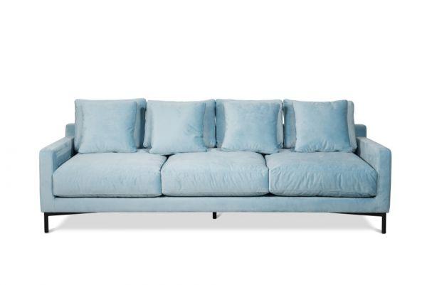 Designer Sofa Messina Stoff blau