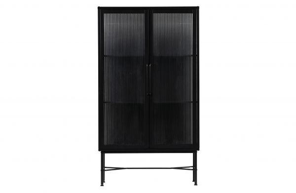 Vitrine Zion Metall Loft Design schwarz