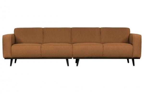 4-Sitzer Sofa Statement Bezug boucle butter