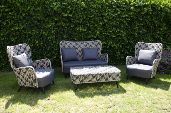Outdoor Lounge Set Toulouse inkl. Kissen