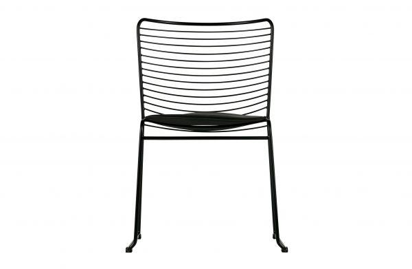 Stuhl Muck 2er Set mit Sitzkissen aus Metall in schwarz