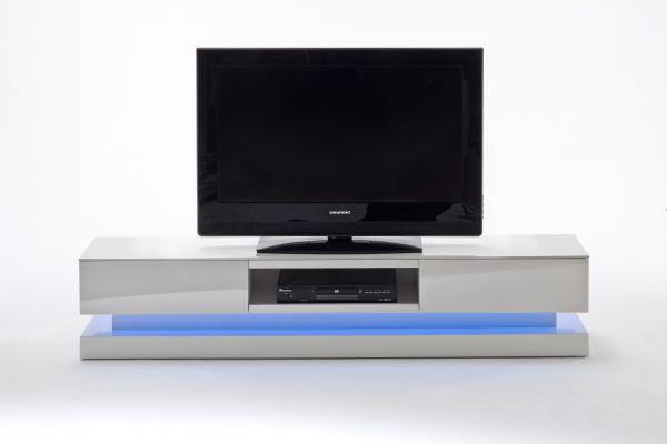 Tv Lowboard Step Weiss Hochglanz Lackiert Inkl Led Beleuchtung